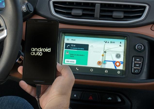 sistema android auto passa a ter o aplicativo waze timo despachante. Black Bedroom Furniture Sets. Home Design Ideas